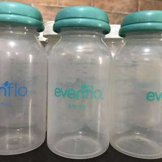 Evenflo and spectra breast milk storage 13 pcs for Php 1,500