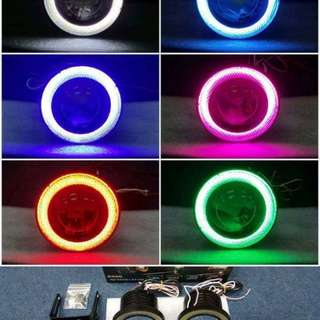 Projector cob ring fog lamp