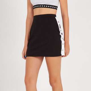 Supre snap side sporty skirt