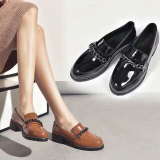 (PO) Inspired Ulzzang Chain Loafers