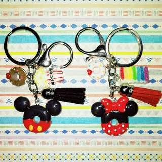 Customised / Handmade Mickey & Minnie Keychain / Bag Charm