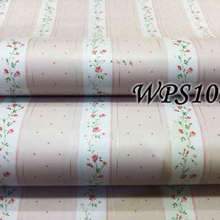 WPS109-PINK LINE N LITTLE FLOWER