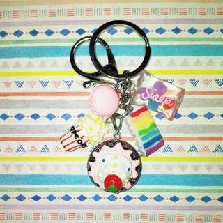 Customised / Handmade Food Charms Keychain / Bag Charm