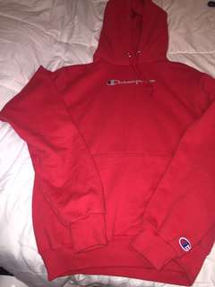Red champion hoodie/Sweater