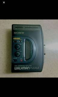 Vintage Sony Walkman Radio Cassette Player