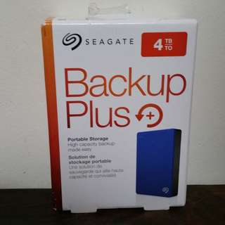 Seagate Backup Plus 4TB portable external hard drive HDD