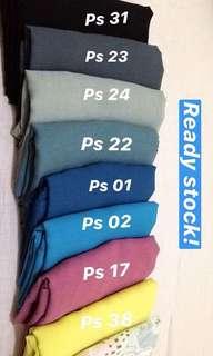 PLAIN SQUARE POLYCOTTON HIJAB