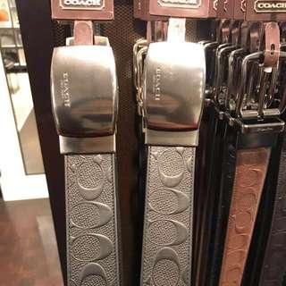 美國代購,香港現貨,Coach 全🆕38mm寬版雙面皮帶