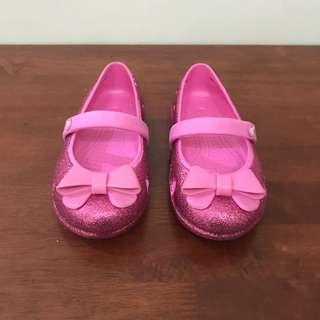 Crocs girls' Keeley hi glitter bow c10