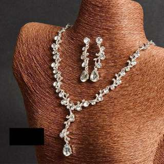 BN Wedding necklace and earrings