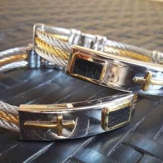 Couple bracelet two tone