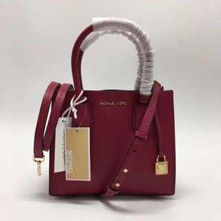 📢特價:美國代購,香港現貨,全🆕Michael Kors 小號包包 100%正品 Cherry 色
