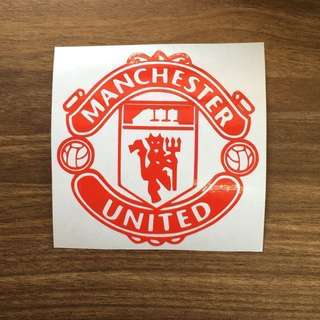 Premium Vinyl waterproof Stickers decal for escooter fixie bicycle luggage motorbike laptop hand phone skateboard notebook scooter car fishing Manchester United