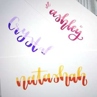 Personalised Lettered Cards