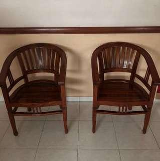 Wooden Chair x2