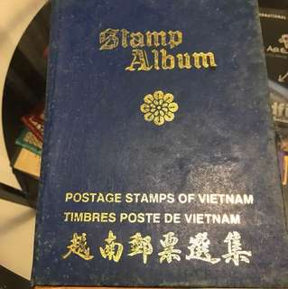 Vintage Vietnam Postage Stamp Album with 149 stamps