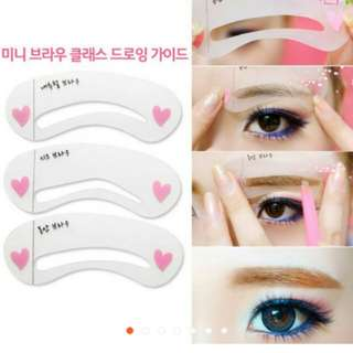 Eyebrow Estencil Card Beauty Tools Template