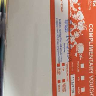 Kidzania open tickets (exchange for adult tickets)