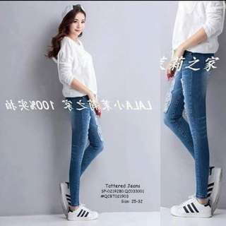 Tattered jeans size : 25-32