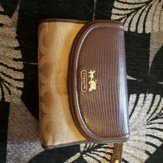 13cm used Coach wallet
