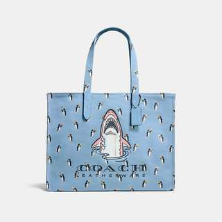 LAST PIECE Authentic Coach SHARKY TOTE 42