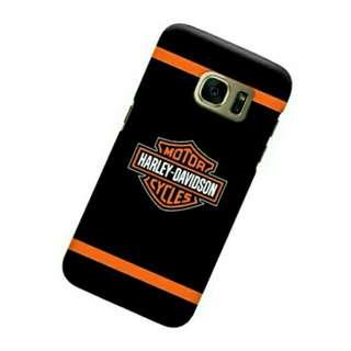Harley Davidson Orange Samsung Galaxy S7 Custom Hard Case
