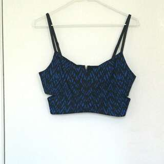 Black and Blue strapped bandeau