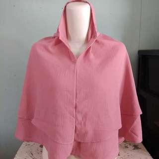Kerudung / jilbab / hijab geblus instan - Pink