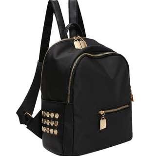 Casual Women Shoulder Rivet Backpack Bag