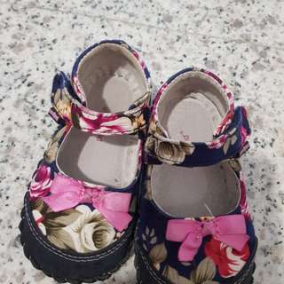 Pediped floral shoes 18 to 24m