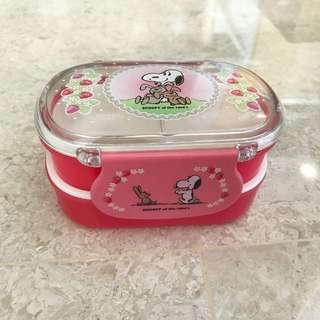 SNOOPY MINI PINK LUNCHBOX