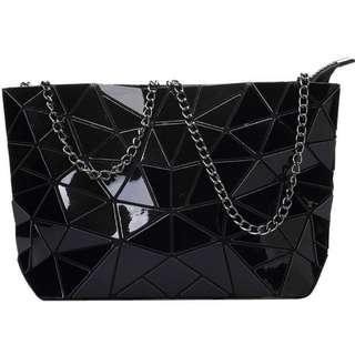 Women Glossy Diamind Shoulder Tote Bag