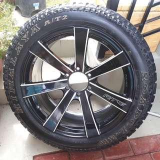 Complete Set - Mags Lenso RTG 20 x 9.5 and Tires Roadclaw Himalaya AT2 265/50R20