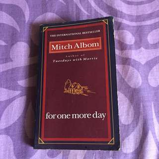 For One More Day by Mitch Albom book