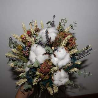 Cotton Dried flower bouquet