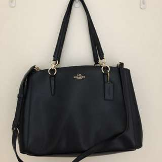 Navy blue authentic Coach handbag