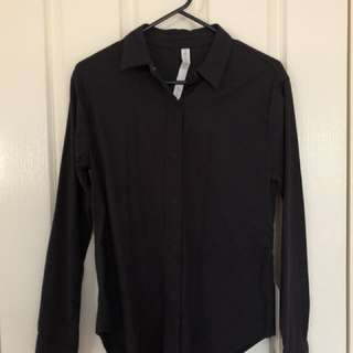 Lululemon Black Getaway Shirt Brand New