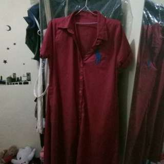 Dress Polo Maroon