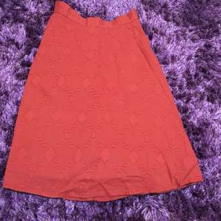 Rok (skirt) colorbox merah