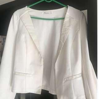 Cardigan in white