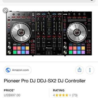 PIONEER DDJ-SX-2 4-CHANNEL PERFORMANCE DJ CONTROLLER