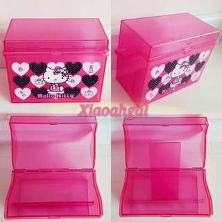 🔴50%➡️ FOLLOWERS ONLY ($29.90 ->$15)**Those who follow but unfollow, pls detour. Thks**🔴🐰AUTHENTIC BRAND NEW (CLEAN)🐰12CM (L)x 6.5CM (B)🐰SANRIO ORIGINAL JAPAN PINK HELLO KITTY Storage container box 💋No pet No smoker clean hse💋