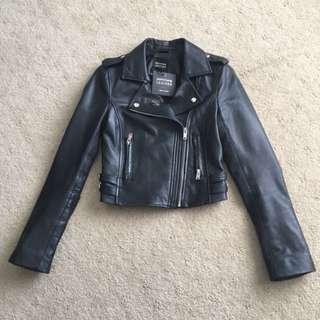 BNWT Portmas 100% Leather Biker Jacket