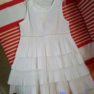 Little girl's white Dress #Fesyen50
