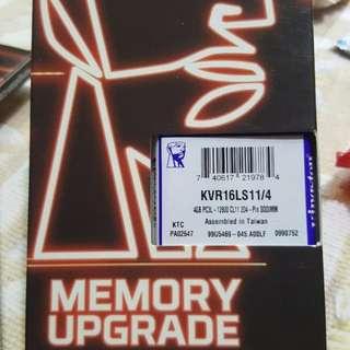 🚚 金士頓記憶體模組DDR3