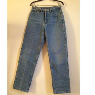 Calvin Klein vintage 26W 28L 4 6 8 high waist mom jeans light wash