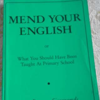 Mend Your English Book On The English Language