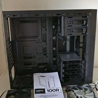 Corsair PC case - Carbide 100R with 1x 120mm fan and 1x 140mm fan