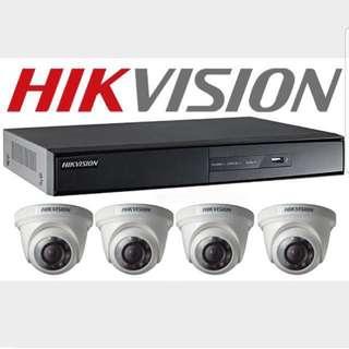 CCTV 4CH DVR WHIT 4 CAMERA HD1080.