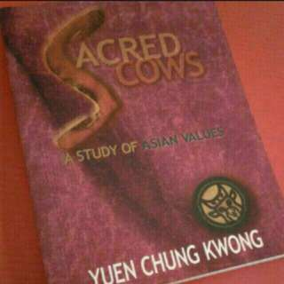 Sacred Cows: A Study of Asian Values  Social issues Local singapore author writer  Book by C. K. Yuen  Handbook size